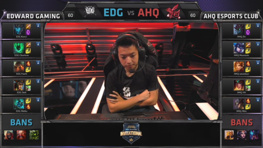 picks bans Edward Gaming vs AHQ e-Sports Club Game 1