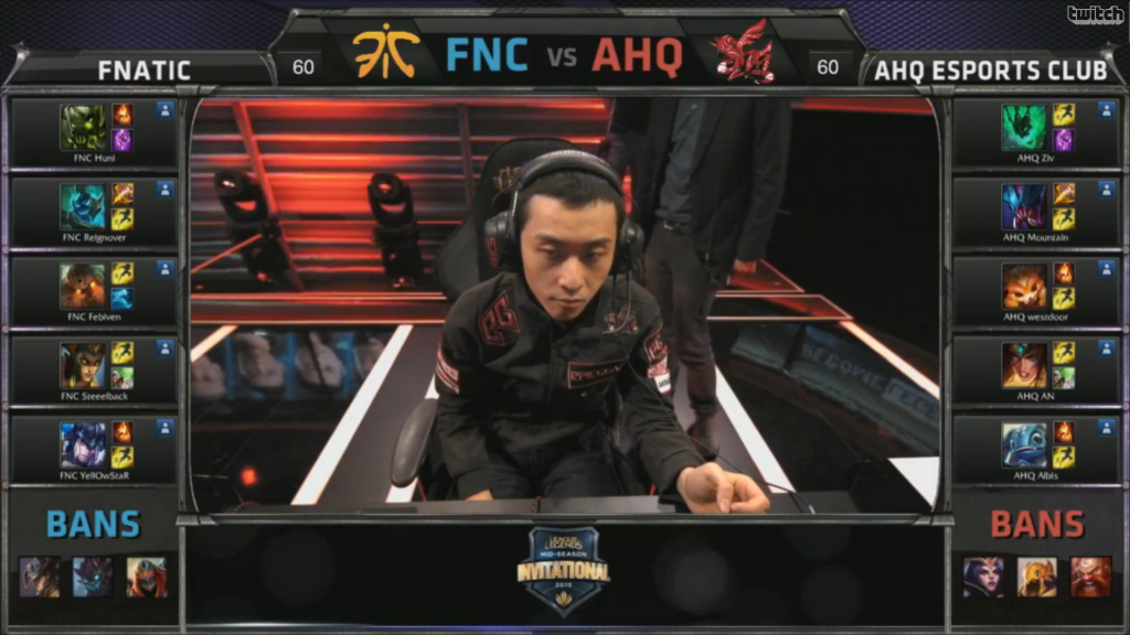 picks bans Fnatic vs AHQ e-Sports Club