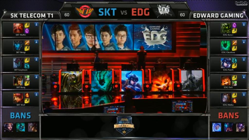 picks bans SK Telecom T1 vs Edward Gaming Game 1