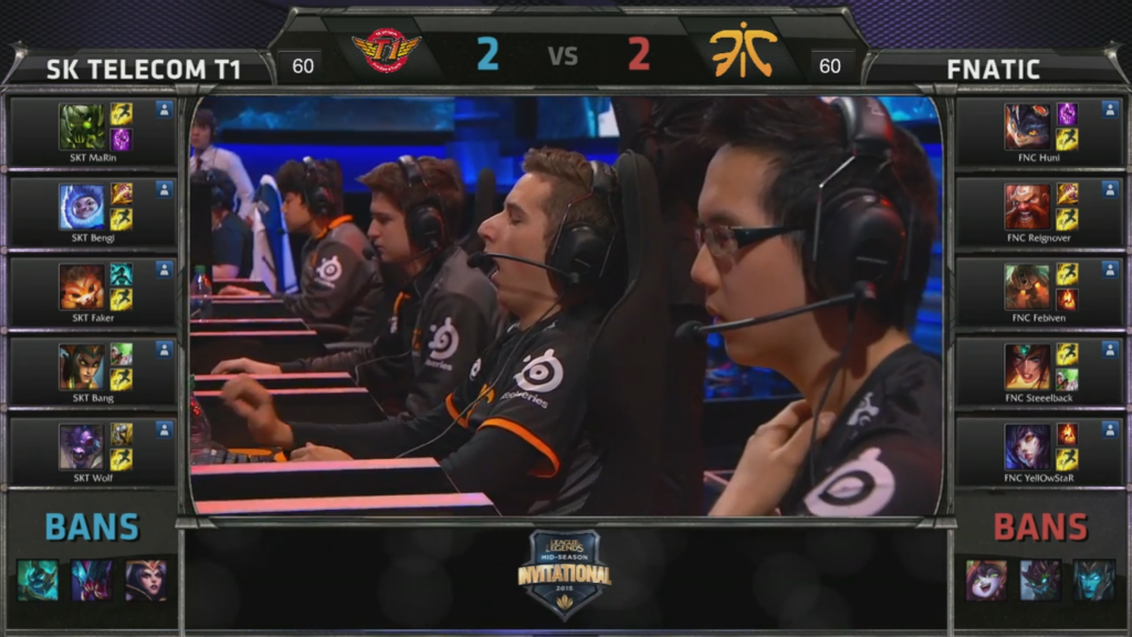 picks bans SK Telecom T1 vs Fnatic Game 5