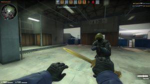 Le fameux couteau d'or
