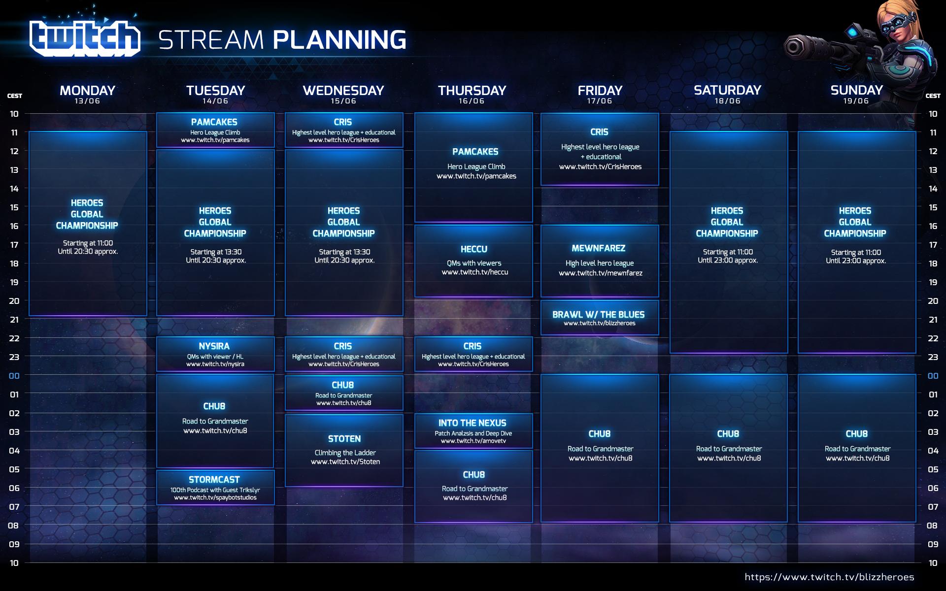Planning de stream