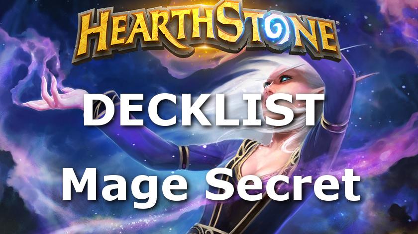 hearthstone decklist knights of the frozen throne chevaliers du trone de glace mage secret tempo