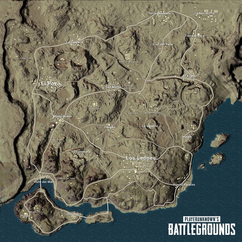 PUBG Miramar map désert
