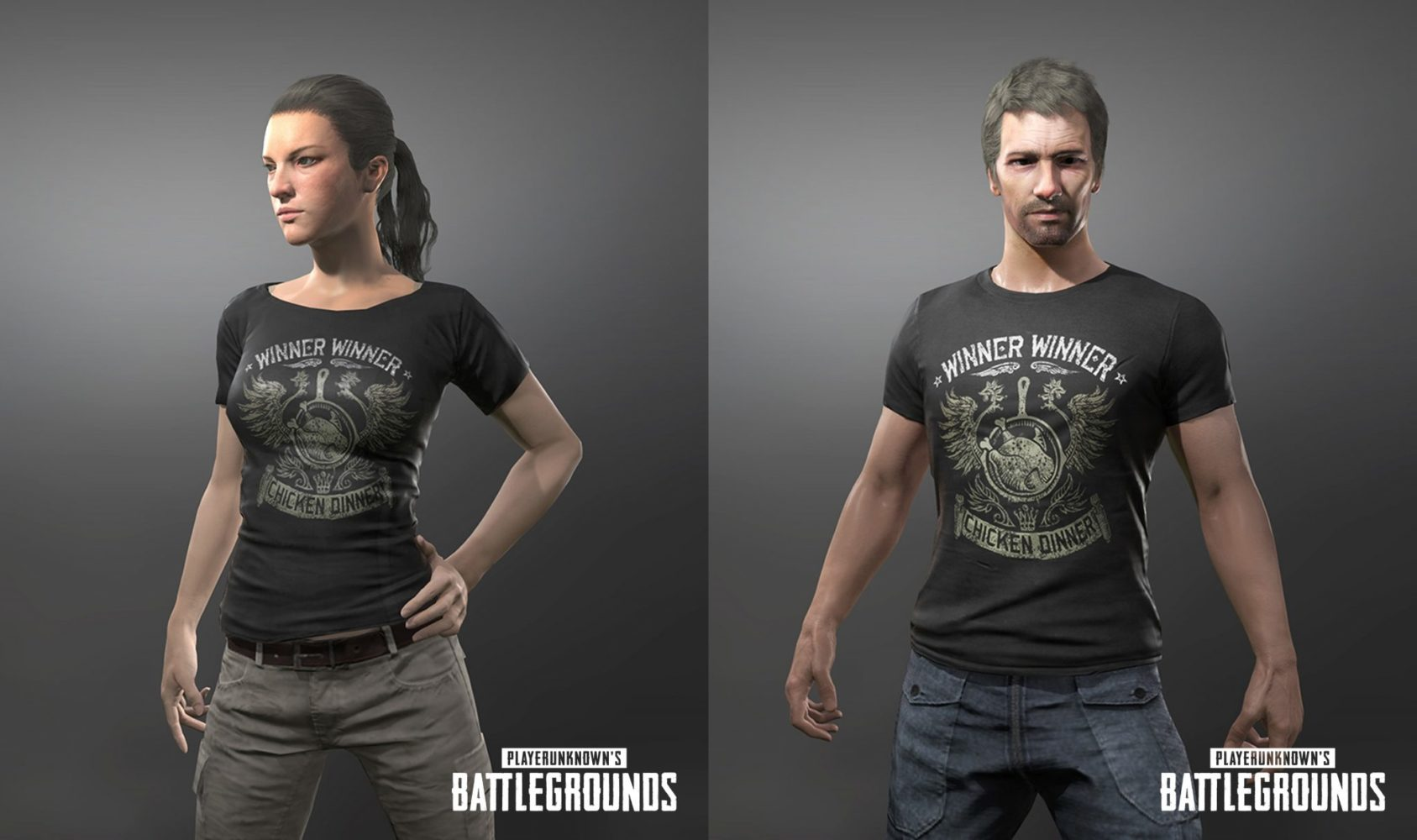 PUBG T-shirt chicken dinner