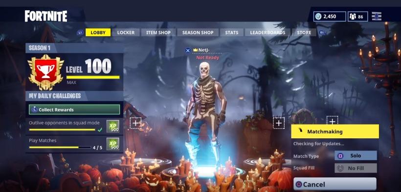 Fortnite bug niveau 100