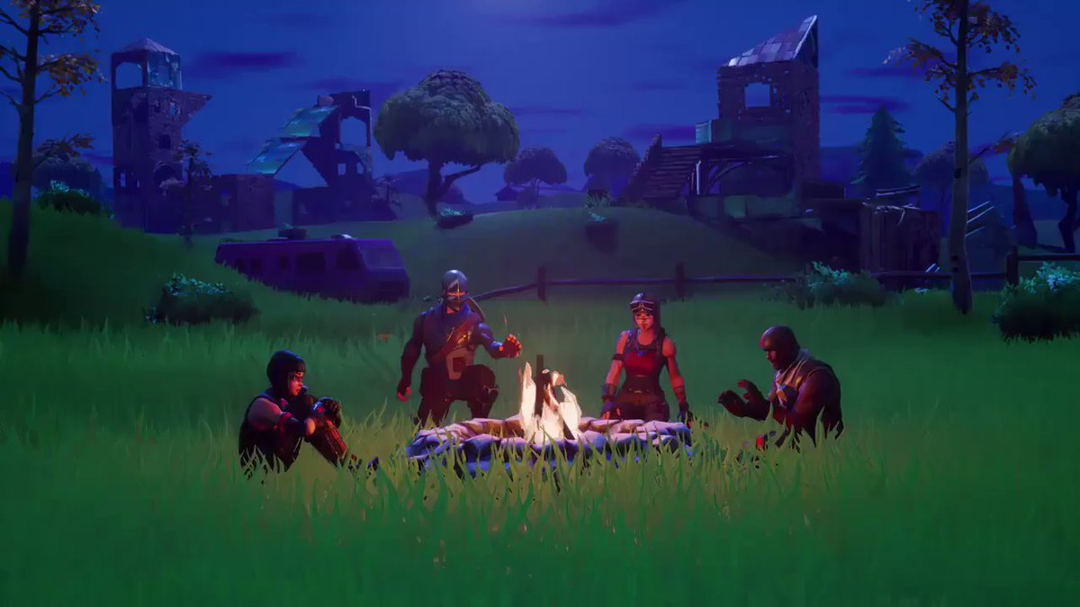 Fortnite feu de camp