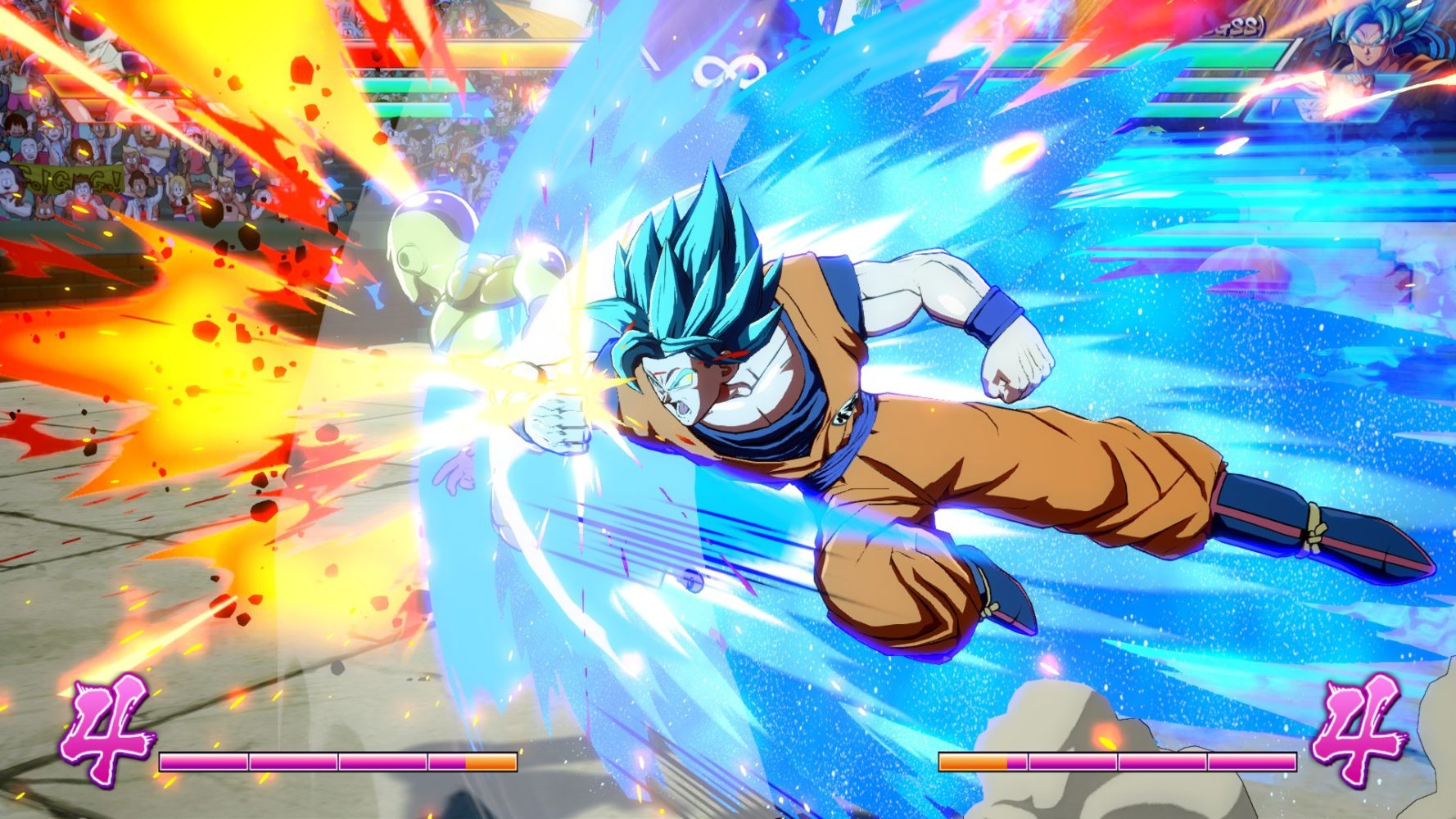 DBZ Blue goku fight