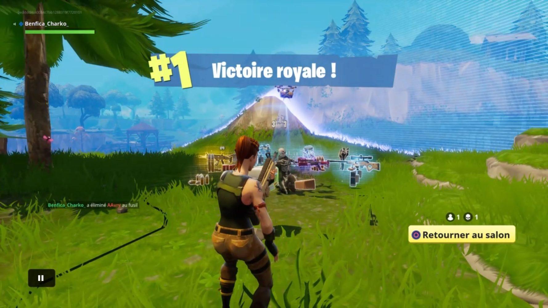 Fortnite victoire