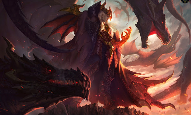 dragon master Swain splash art
