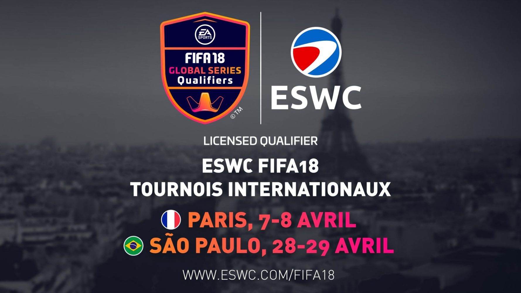 ESWC FIFA18-Paris-Sao-Paulo-Global-Series-FIFA-eWorld-Cup-2018