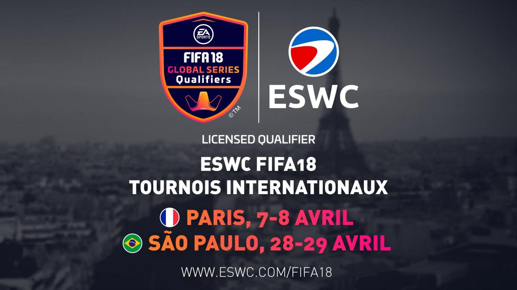 ESWC FIFA18-Paris-Sao-Paulo-Global-Series-FIFA-eWorld-Cup-2018