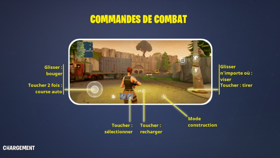 Fortnite sur mobile controles
