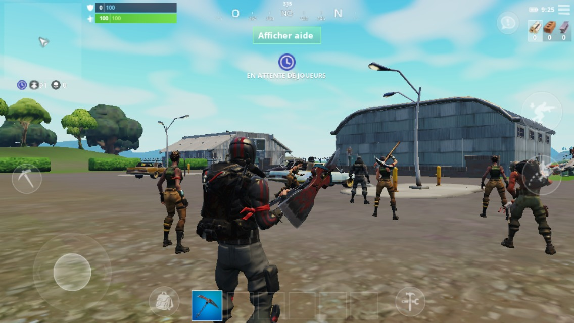 Fortnite sur mobile in game