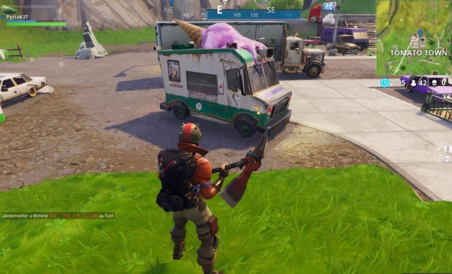 camion de glace fortnite