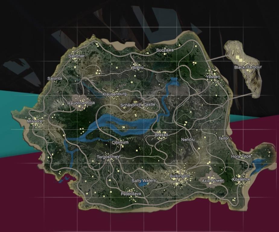 map PUBG Roumanie