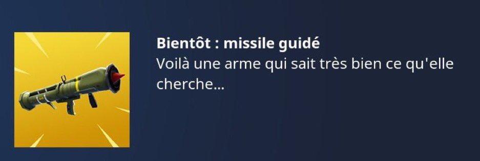 missile guidé sur Fortnite