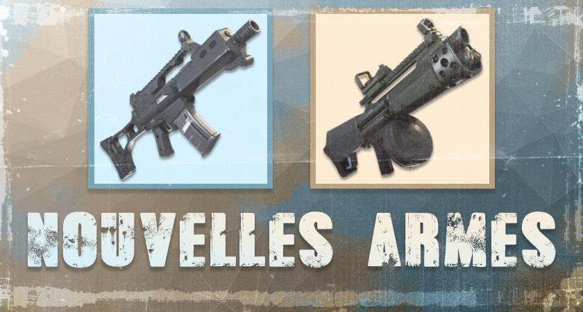 nouvelles armes fortnite