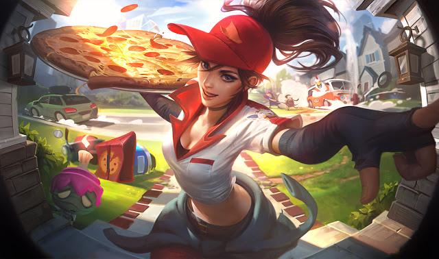 pizza delivery sivir splash art