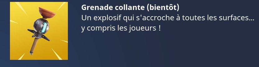 grenade collante Fortnite