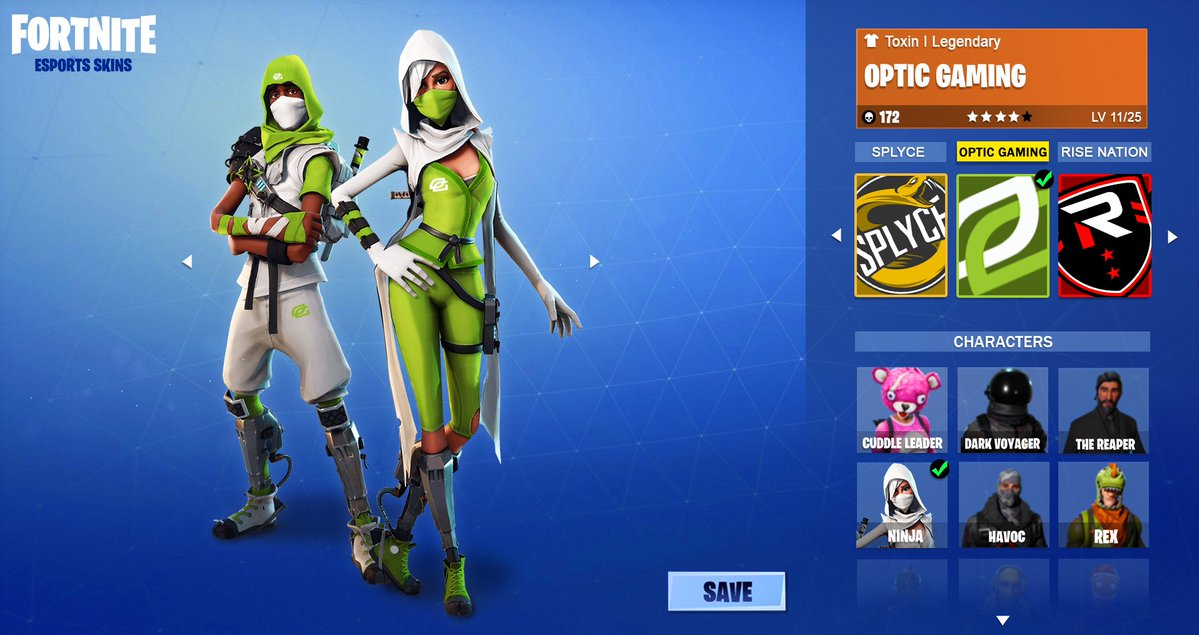 skins Fortnite Optic