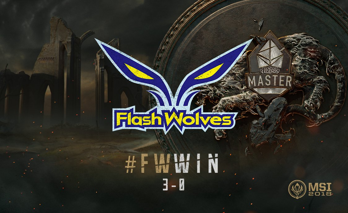 Flash Wolves win