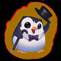 emote pingouin canne haut de forme