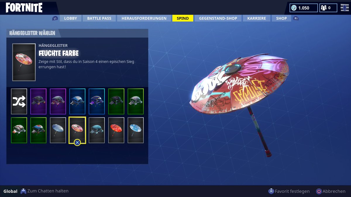 skin parapluie Fortnite saison 4