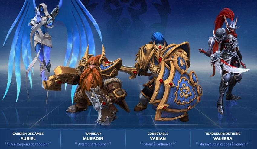 Skin de l'alliance pour l'événement Echos d'Alterac