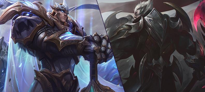 Les skins Dieu-roi Garen et Dieu-roi Darius