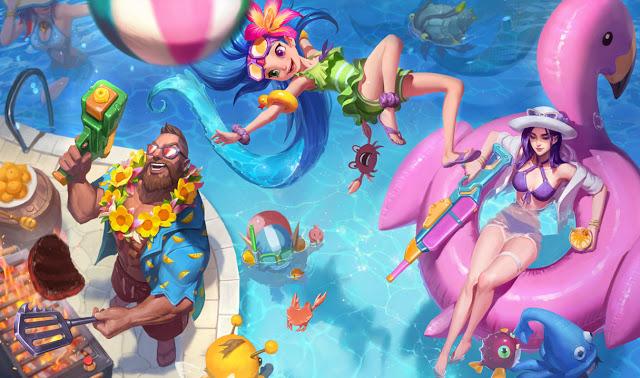 pool party skins