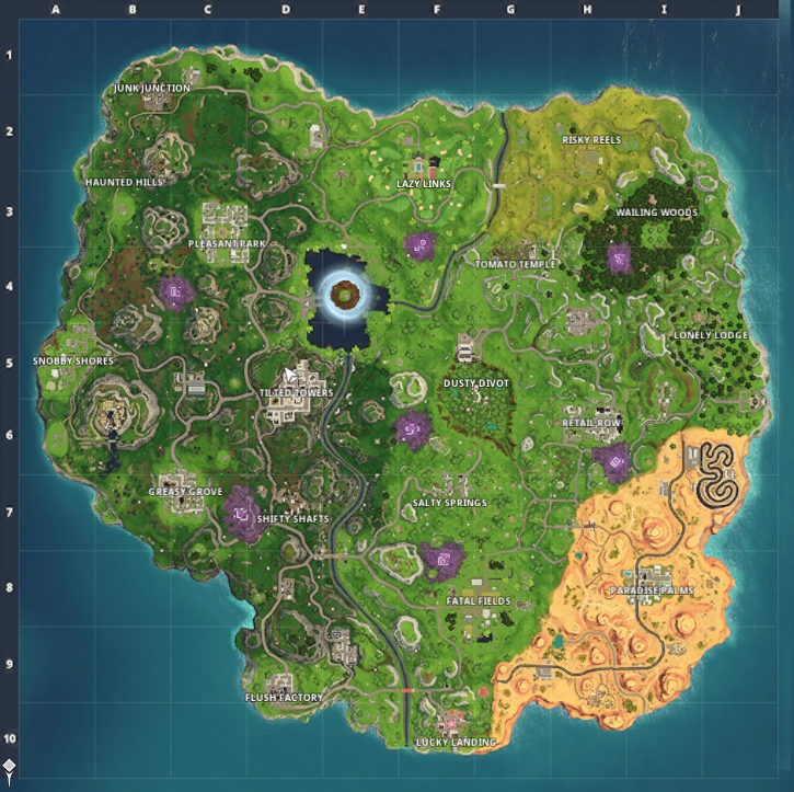 Carte Saison 6 Fortnite Map