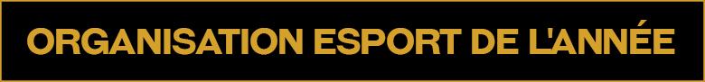 Organisation esport de l'année