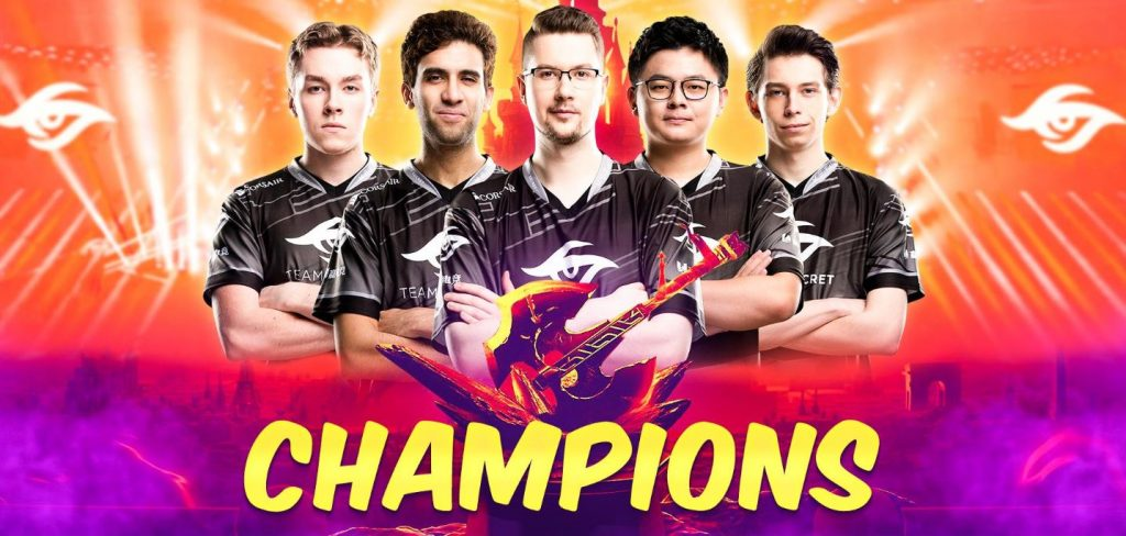 team secret champions au major dota 2 à disneyland