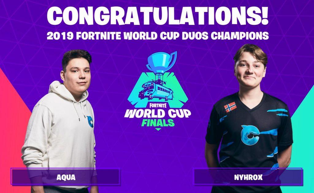 fortnite world cup aqua nyhrox