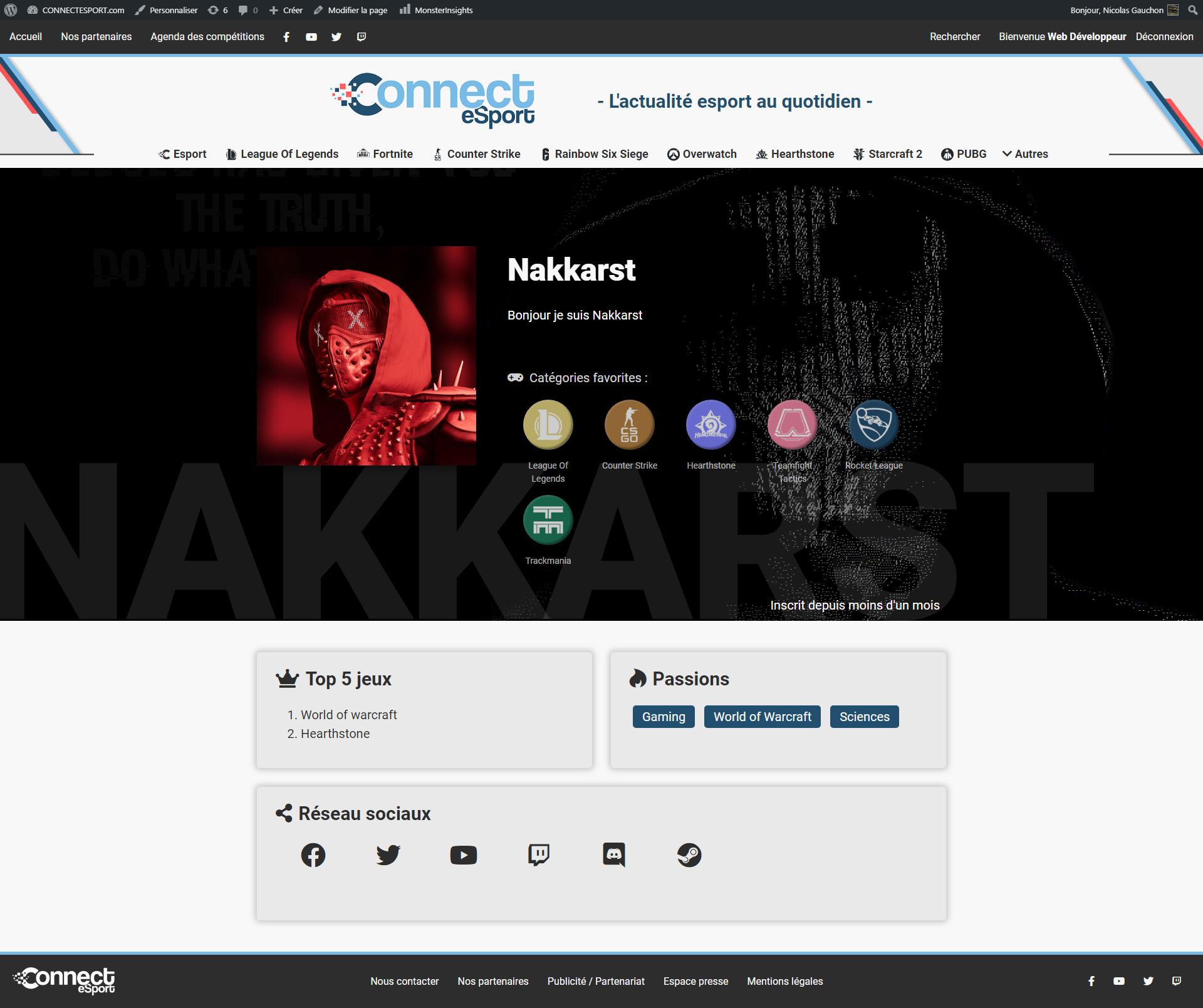 profil connectesport
