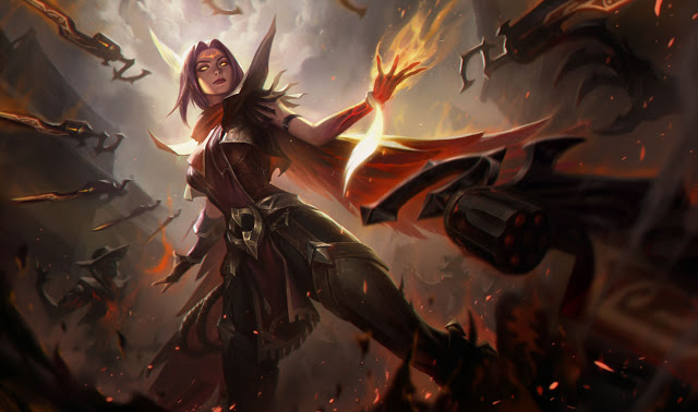 high noon irelia splash art