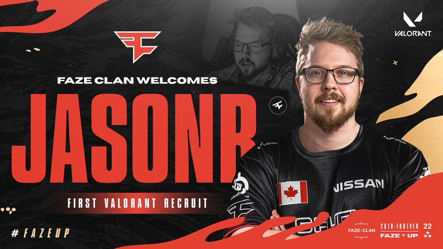 jasonr nouvelle recrue valorant faze clan