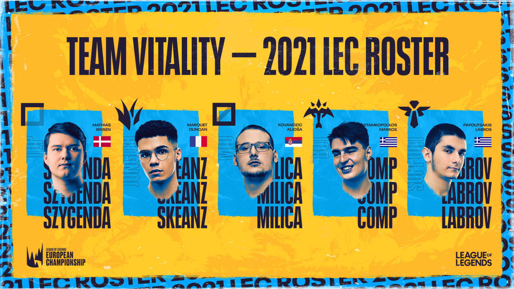 vitality lec roster