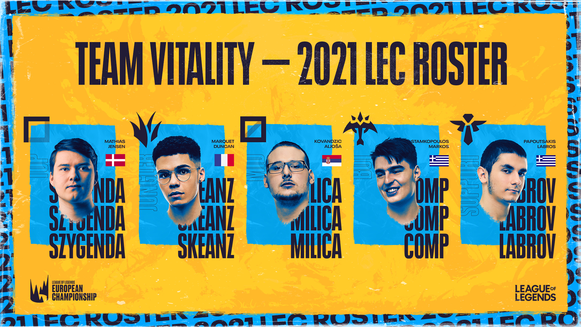 vitality lec roster